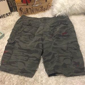 💋4/$50 Billabong Camo green Cargo shorts 36